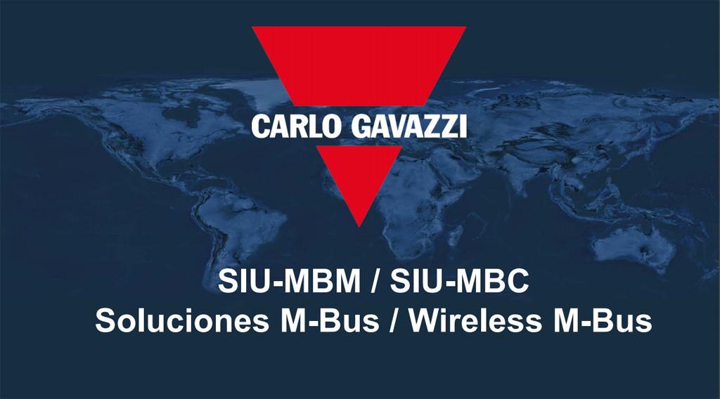 SIU-MBM y SIU-MBC: Soluciones M-Bus y Wireless M-Bus de Carlo Gavazzi