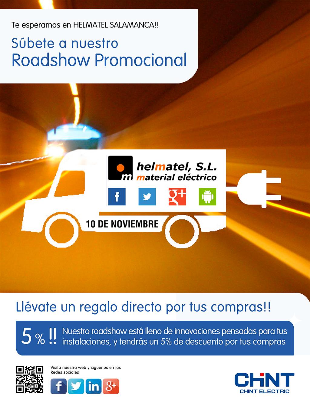 ¡El 10 de noviembre llega el Roadshow Chint a Helmatel!