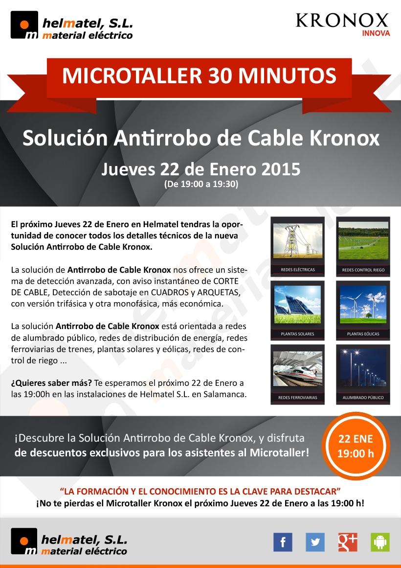 Microtaller 30 Minutos: Solución Antirrobo de Cable Kronox