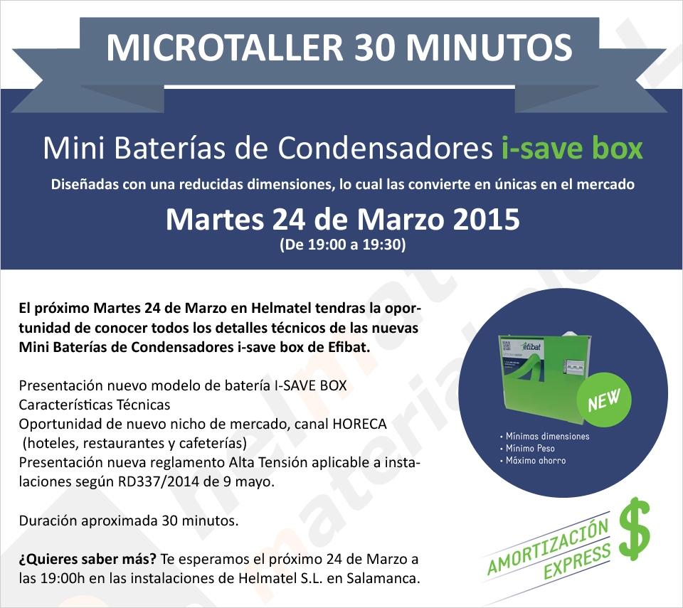 Microtaller efibat el Martes 24 de Marzo a las 19:00 h