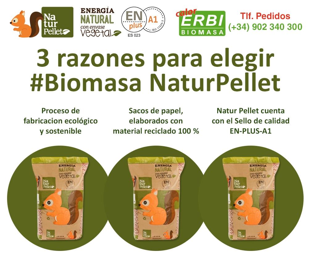 3 razones para elegir biomasa Natur Pellet
