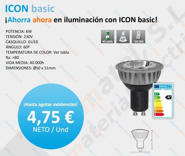 ¡Ahorra ahora en iluminación con ICON basic!