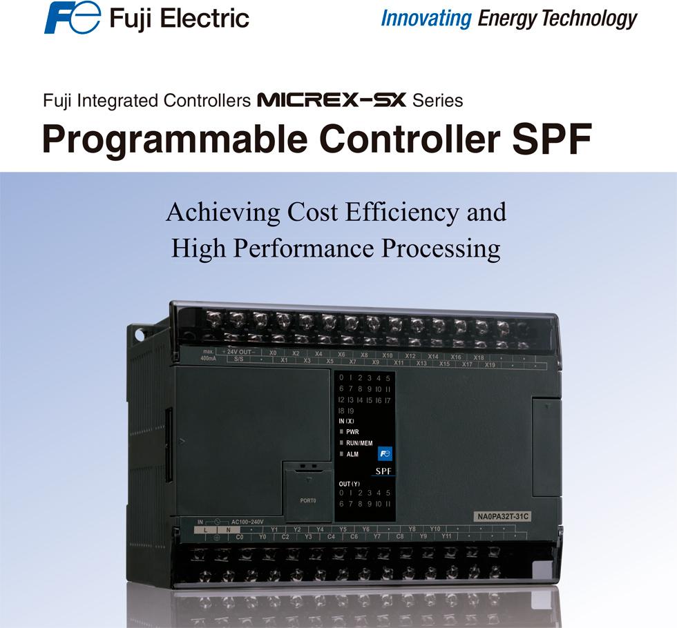 Controlador Programable Micrex-SX series, tipo SPF de Fuji Electric