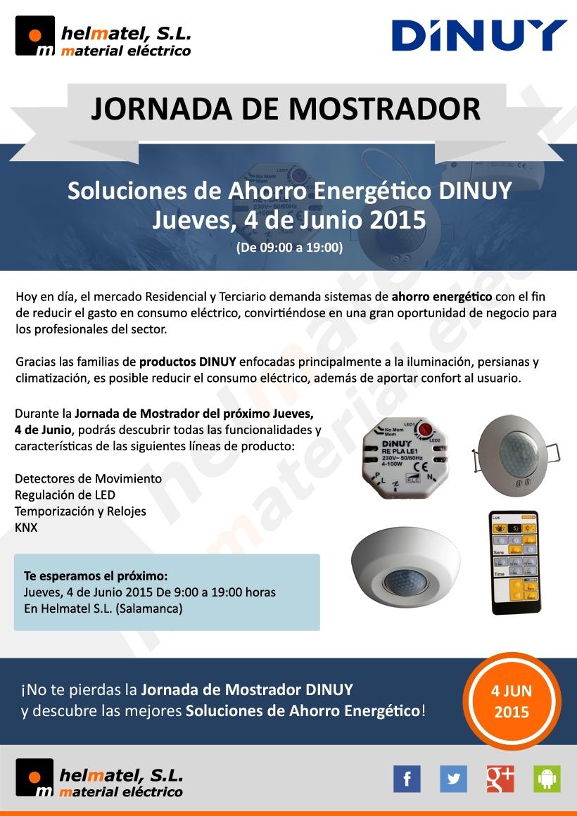 Jornada de mostrador: Soluciones de Ahorro Energético DINUY, el Jueves, 4 de Junio 2015