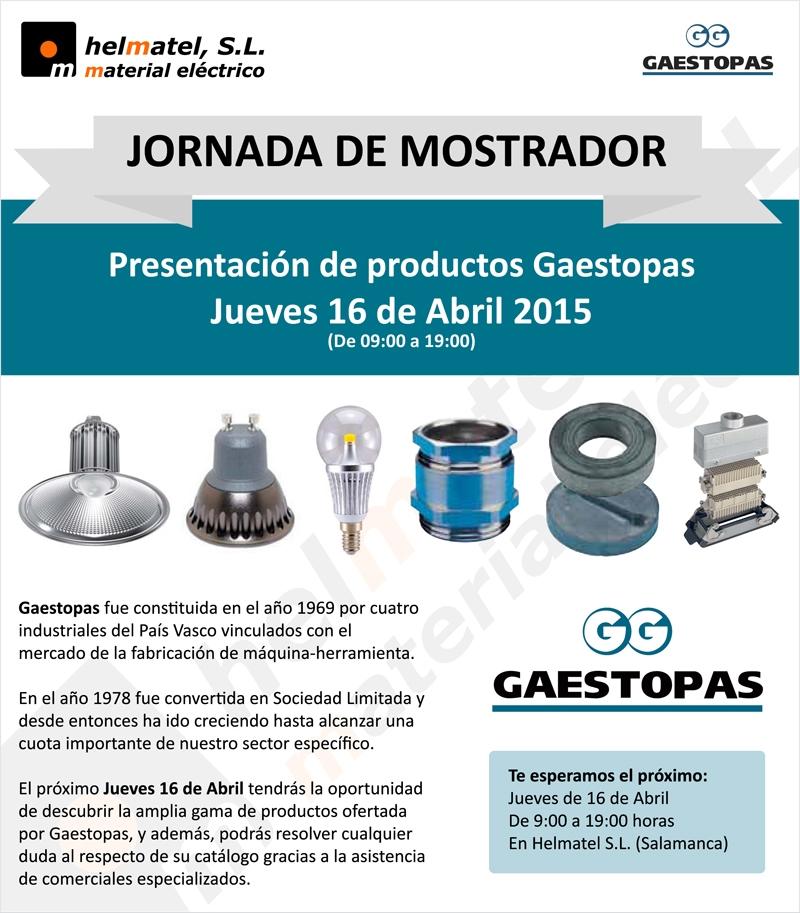 Jornada de mostrador Gaestopas: El Jueves 16 de Abril