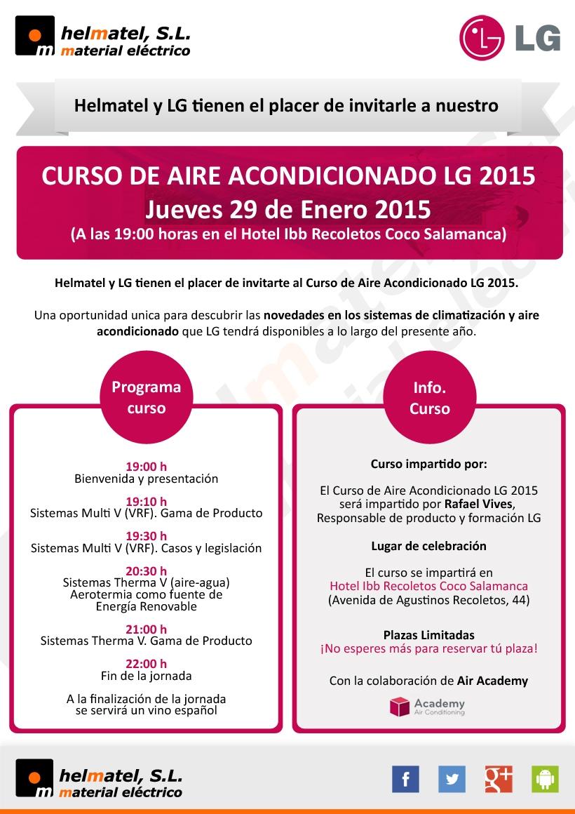 El Jueves 29 de Enero Curso de Aire Acondicionado LG 2015