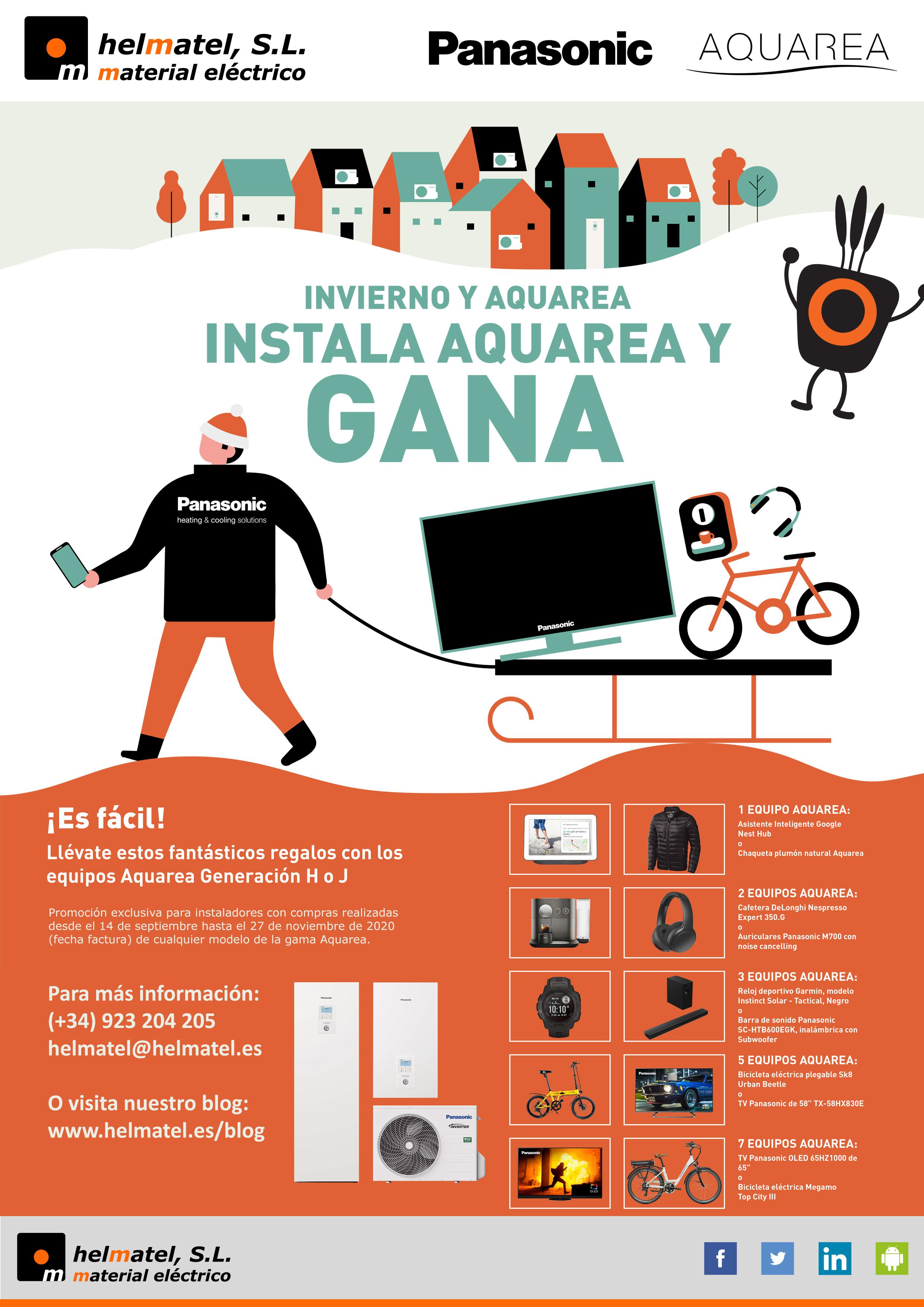 Nueva promo Invierno y Aquarea 2020 en Helmatel: Instala Aquarea y Gana