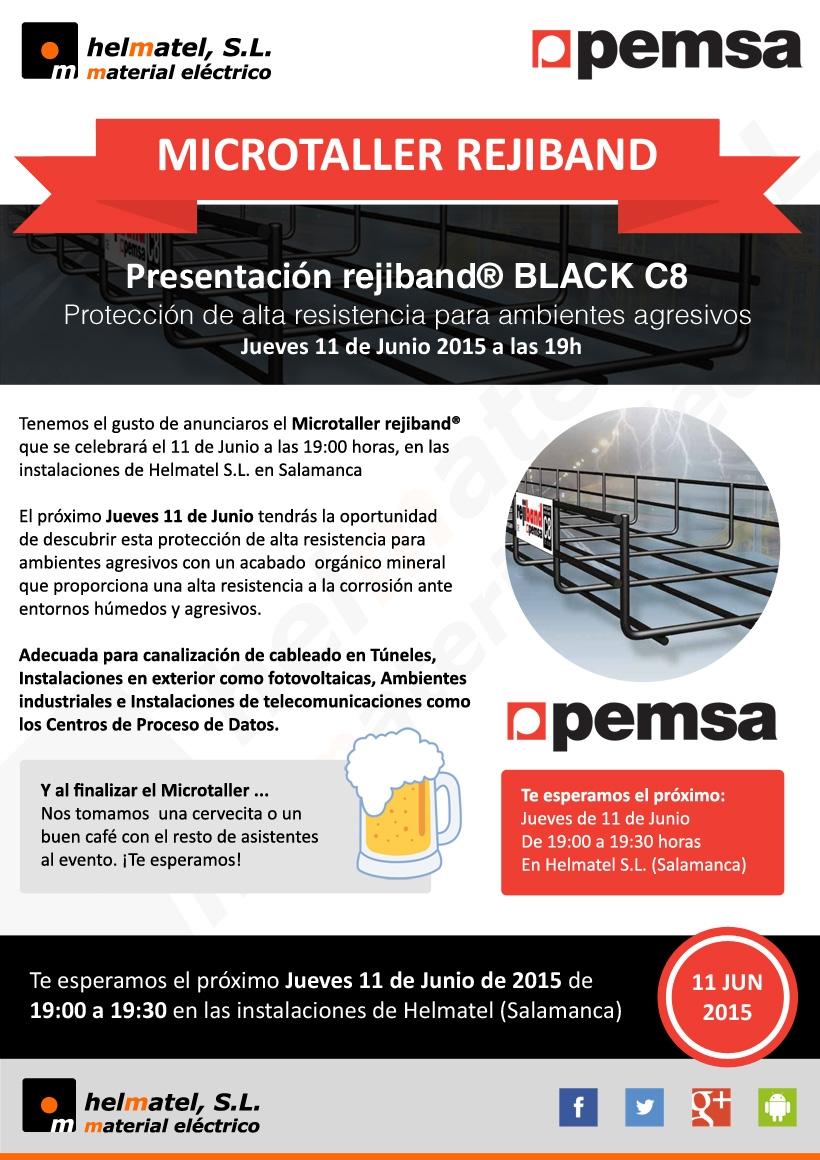 El próximo Jueves 11 de Junio a las 19h: Presentación rejiband® BLACK C8 en Helmatel.