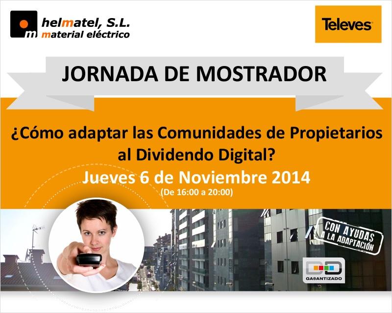 Jueves 6 de Noviembre en Helmatel: Jornada de mostrador Televes